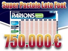 superpactole 750.000 € Loto Foot