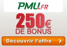 bonus pmu 250 €