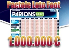 loto foot pactole 1 million
