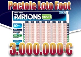 Super pactole Loto foot