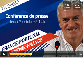 Liste équipe de France - Portugal